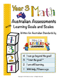 Year 3 Australian Math Assessments with Marzano Scales (St