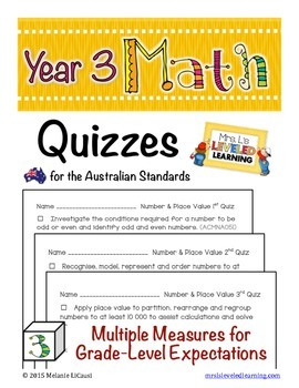 Year 3 Australian Math Quizzes