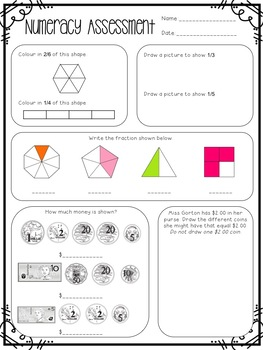 Year 3 Australian Numeracy Assessment