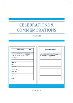Year 3 Celebrations and Commemorations