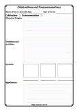 Year 3 Celebrations and Commemorations History Worksheets