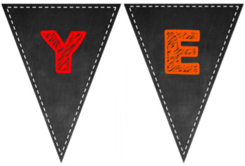 Year 3 Chalkboard Themed Bunting Sign