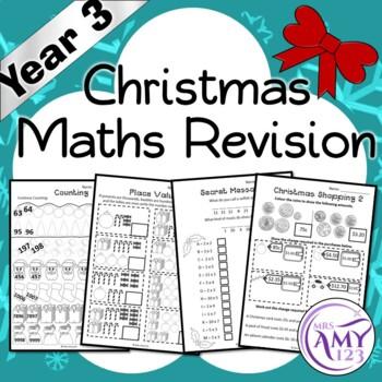 Year 3 Christmas Maths Revision - Australian Curriculum Aligned