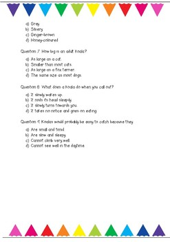 Year 3 Comprehension Assessment