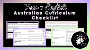 Year 3 English | Australian Curriculum Checklist