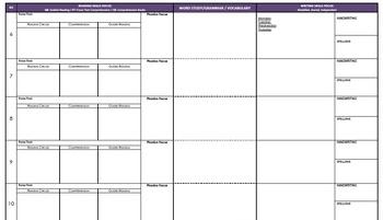 Year 3 English Australian Curriculum Planning Template (A3)