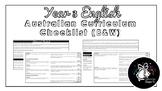 Year 3 English (Black & White) | Australian Curriculum Checklist