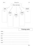 Year 3 Grammar - Sensing Verbs - Graphic Organiser