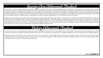 Year 3 HASS (Black & White) | Australian Curriculum Checklist