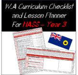 Year 3 HASS Western Australian Curriculum Checklist and Lesson Planner