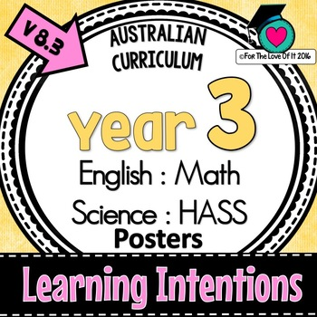 Year 3 - Australian Curric. LEARNING INTENTIONS  - English, Math, Science, HASS