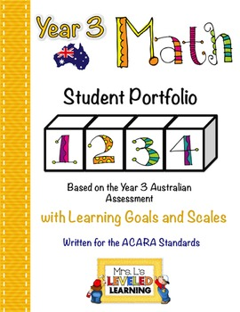 Year 3 Australian Math Student Portfolio with Marzano Scales