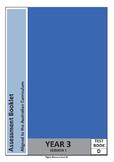 Year 3 Math Test (Assessment Book D) Australian Curriculum
