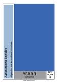 Year 3 Math Test (Assessment Books A to D) Australian Curriculum Aligned