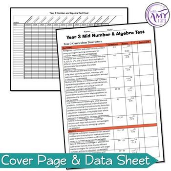 Australian Curriculum Year 3 Mathematics Test Bundle