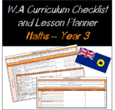 Year 3 Mathematics Western Australian Curriculum Checklist