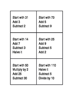 Year 3 Maths Mentals 2