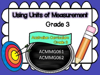 Year 3 – Measurement & Geometry Learning INTENTIONS & Success Criteria Posters