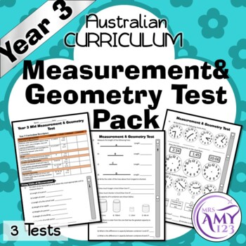 Year 3 Measurement & Geometry Maths Test Pack- Australian