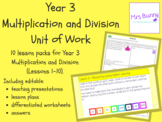 Year 3 Multiplication and Division Unit Pack - UK