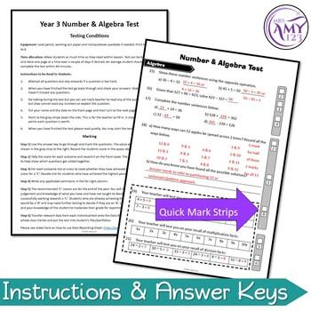 Year 3 Number & Algebra Maths Test Pack - Australian Curriculum