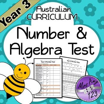 Year 3 ACARA Number Test
