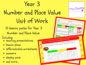 Year 3 Number and Place Value Complete Unit Pack