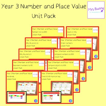 Year 3 Number and Place Value Unit Pack - UK