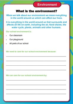 Our Environment Years 3 and 4