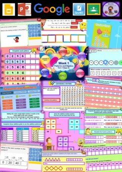 Year 3 Patterns and Algebra Smart Notebook and Unit of Work Bundle 1