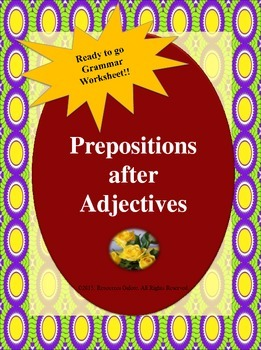 Grade 3: Prepositions after Adjectives
