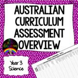 Year 3 Science Australian Curriculum Assessment Overview