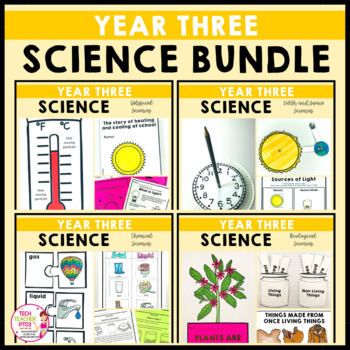 Year 3 Science Bundle Biological Chemical Earth Space Physical