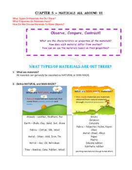 Year 3 Science MATERIALS and FORCES