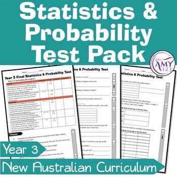 Year 3 Statistics & Probability Maths Test Pack- Australian Curriculum