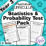 Year 3 Statistics & Probability Maths Test Pack- Australia