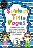 Year 3 Subject Title Pages –Free – Animals