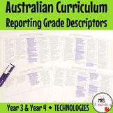 Year 3 & Year 4 Australian Curriculum Reporting Grade Descriptors - Technologies