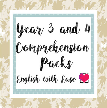 Year 3 and 4 (Grade 2 and 3) Comprehension Pack