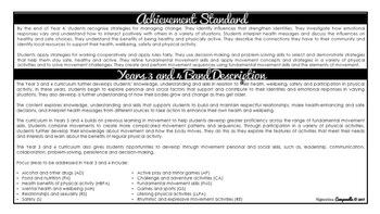 Year 3 and 4 Health (Black & White) | Australian Curriculum Checklist