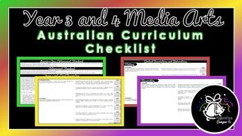 Year 3 and 4 Media Arts   Australian Curriculum Checklist