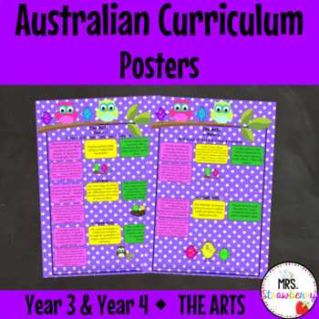 Year 3 and Year 4 Australian Curriculum Posters – The Arts