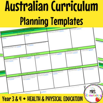 Year 3 and Year 4 Australian Curriculum Planning Templates
