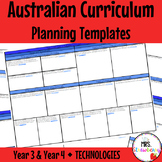 Year 3 and Year 4 Australian Curriculum Planning Templates: Technologies