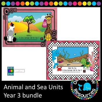 Ocean life/sea and Animal unit bundle Grade 3