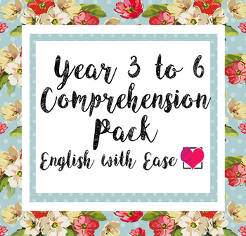 Year 3 to 6 (Grade 2 to 5) comprehension pack