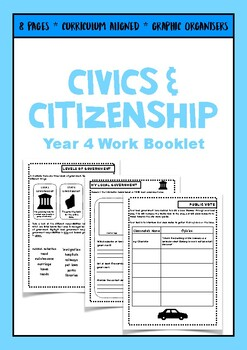 Year 4 ACARA Civics and Citizenship 8 Page Work Booklet