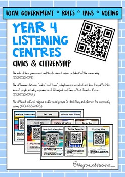 Year 4 ACARA Civics and Citizenship QR Listening Centre