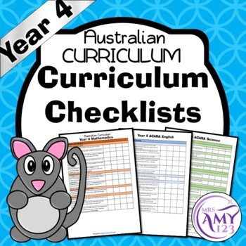 Year 4 Australian Curriculum Checklists