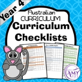 Year 4 ACARA Curriculum Checklists